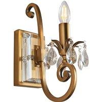 Interiors 1900 UL1W1B Oksana Antique Brass 1 Light Wall Light   Fitting Only