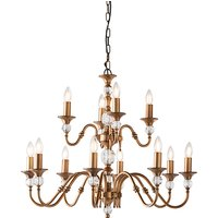 Interiors 1900 LX124P12B Polina Antique Brass 12 Light Ceiling Pendant   Fitting Only