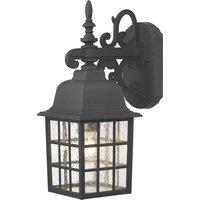 Dar NOR1522 Norfolk Black Finish Outdoor Wall Light