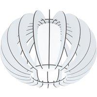 Eglo 95605 Stellato 2 One Light Flush Ceiling Light In Wood  Glass And White