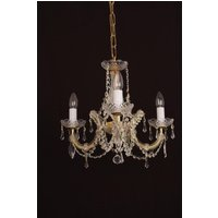 Preciosa 3 Light Marie Therese Crystal Chandelier In Gold
