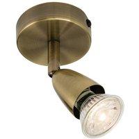 Saxby 60998 Amalfi Antique Brass Single Spotlight
