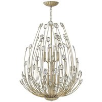 HK/TULAH8 Tulah 8 Light Two Tier Ceiling Chandelier In Silver Leaf