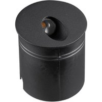 Mantra M7022 Aspen 1 Light Outdoor 3 Watt LED Round Angle Wall Lamp In Sand Black