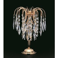 ST02000 STL AB Starlight Crystal Waterfall Small Table Lamp