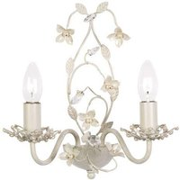 Endon LULLABY 2WBCR Lullaby Cream Gold Double Wall Light