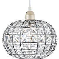 LET6550 Letitia Chrome   Glass Non electric Lampshade