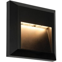 Saxby 61219 Severus Square Guide Outdoor Wall Light in Black
