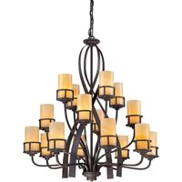 QZ KYLE16 Kyle 16 Light Imperial Bronze Chandelier with Onyz Shades