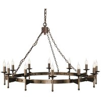 CW12 Cromwell 12 Light Wrought Iron Chandelier