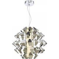 Dar FAL8650 Falcon LED Ceiling Pendant Light In Polished Chrome