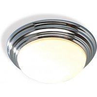 Dar BAR5050 Barclay Large Flush Chrome Bathroom Ceiling Light IP44