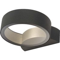 Dar REO3239 Reon Outdoor Round Wall Light In Grey With Clear Glass