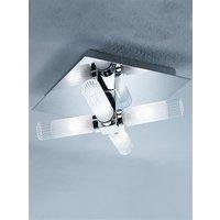 C1286 Chrome Bathroom Ceiling Light with Glass Shades  IP44