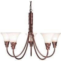 Elstead EM5 COPPER Emily bronze 5 light chandelier