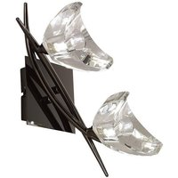 Mantra M1462BC S Eclipse 2 Light Switched Wall Light In Black Chrome