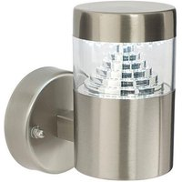 Saxby 13928 Pyramid LED Exterior Brushed Steel Wall Light
