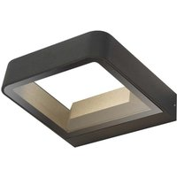 Dar MAL3239 Malone 1 Light Outdoor Wall Light In Grey With Clear Glass