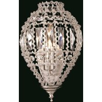 CO01219 WB C Crystal Other 1 Lt Bombay Beaded Wall Bracket