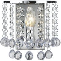 Modern Chandelier Style 1 Light Wall Light In Polished Chrome