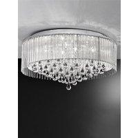 F2160 8 8 Light Crystal Flush Ceiling Fitting