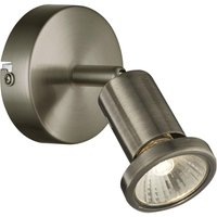 Saturn Antique Brass 1 Light Single Wall Spotlight   LED Compatible