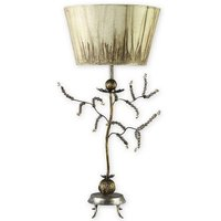 FB KRISTAL TL 1 Light Gold Leaf and Putty Table Lamp