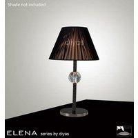 IL30590 Elena Black Chrome And Crystal Cloth Table Lamp Base