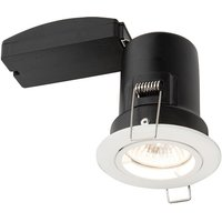 Saxby 61059 ShieldPLUS MV Fixed Recessed Downlight in White Finish