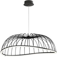 Mantra M6683 Celeste 1 Light Ceiling Pendant In Black   Dia  810mm