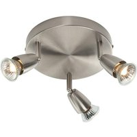 Saxby G2523413 Amalfi Triple Ceiling Spotlight in Satin Nickel Finish