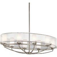 KL/SALDANA8 Saldana 8 Light Oval Chandelier with Soft Shades