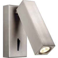 Firstlight 3455 Solo LED One Light Rectangular Wall Light In Brushed Nickel