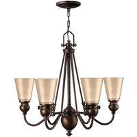 HK/MAYFLOWER6 Mayflower 6 Light Ceiling Chandelier Light In Olde Bronze