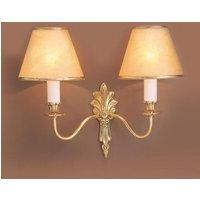 SMBB00152A PB Goodwood 2 Light Polished Brass Wall Light