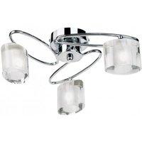 Endon 91183 3 Light Semi Flush Light In Chrome and Crystal