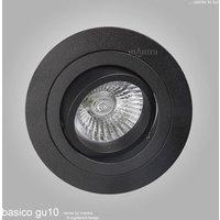 Mantra MC0007 Basico GU10 1 Light Round Swivel Downlight In Sand Black