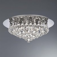 Searchlight 3406 6CC Hanna 6 Light Flush Ceiling Crystal Light In Polished Chrome