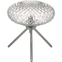 Dar BIB4108 Bibiana 1 Light Table Lamp In Polished Chrome With Clear Glass   Height  230mm