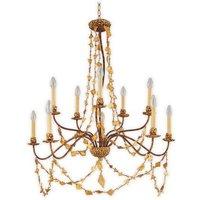 FB MOSAIC10 10 Light Gold Jewel Chandelier