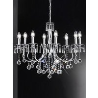 F2155/8 8 Light Chrome and Crystal Chandelier Ceiling Pendant