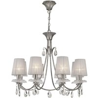 Mantra M6301 Sophie 8 Light Chandelier With Shades In Silver