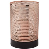 Modern Retro Vintage Black and Copper Mesh Table lamp