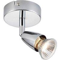 Saxby 43277 Amalfi Polished Chrome Single Spotlight