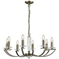 F2242/8 Bronze 8 Light Chandelier