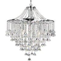 Searchlight 3495-5CC Dorchester 5 Light Crystal Chandelier