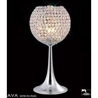 IL30194 Ava 3 Light Chrome And Crystal Table Lamp