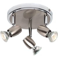 Saxby G5503477 Palermo Brushed and Polished Chrome Triple Spotlight