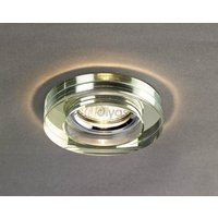 Diyas IL30821WI White Wine Crystal Recessed Round Downlight Fascia