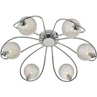 Dar ESM6450 Esma 6 Light Semi Flush Ceiling Light In Polished Chrome